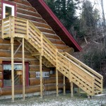 Pressure treated wooden staircase in Dover Vermont